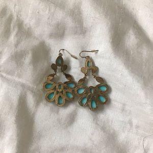 Jewelry - Turquoise Filigree Earrings